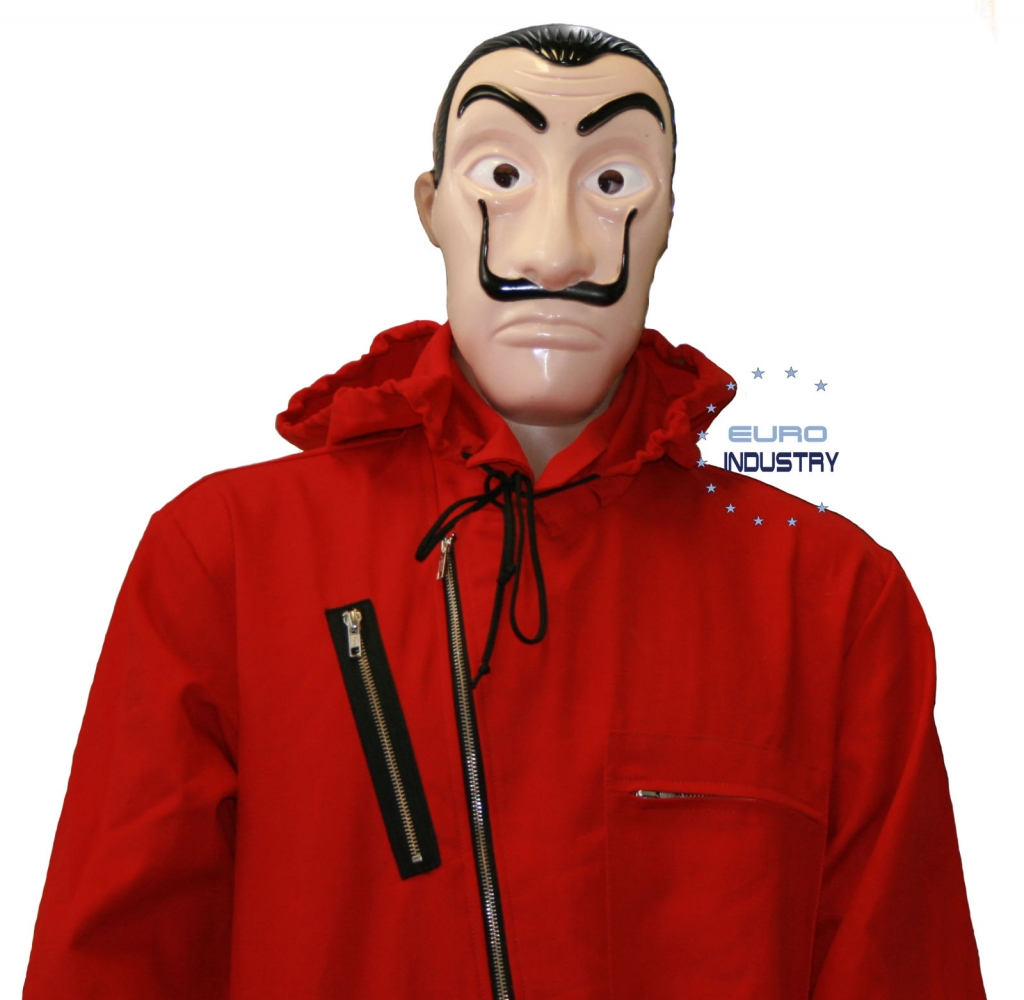 Rotes Bankrauber Kostum Das Haus Des Geldes 100 Baumwolle Maske