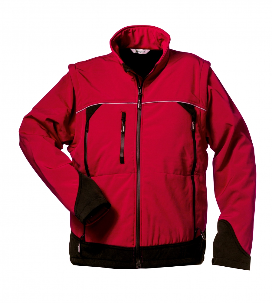Elysee 20006 OMEGA Softshell Jacket with removable sleeves red