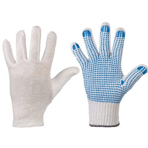 Textile safety gloves