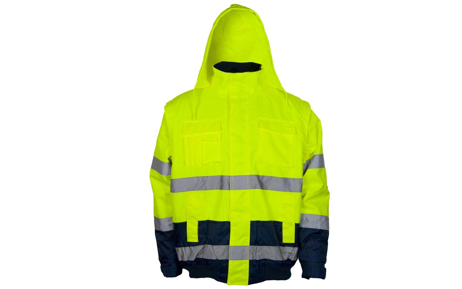 Gr Warnschutzpilotjacke *hasso* Safestyle® Gelb/marine L