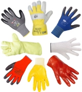 Coated protection gloves