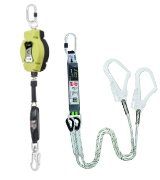 Fall arresters, lanyards and work positioning lanyards