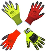 High visibility working gloves