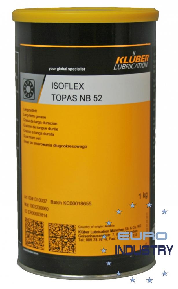 Klüber ISOFLEX Topas NB52 Synthetic rolling, plain bearing grease 1 Kg