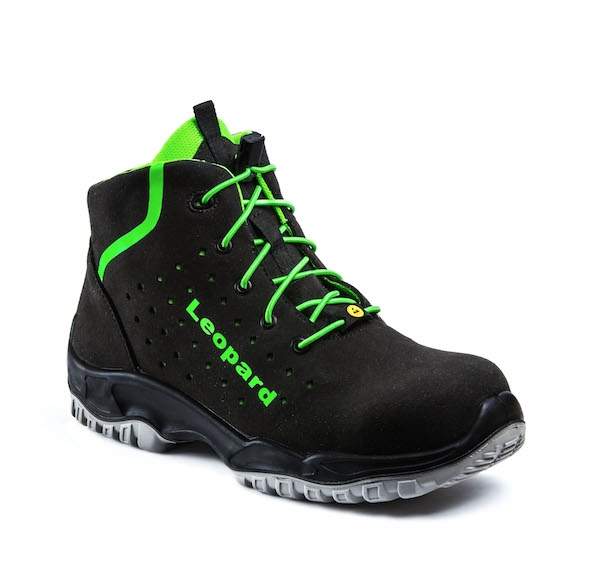 7d74952ea90 Leopard E0649 Safety Ankle Boots sporty and light S1 ESD