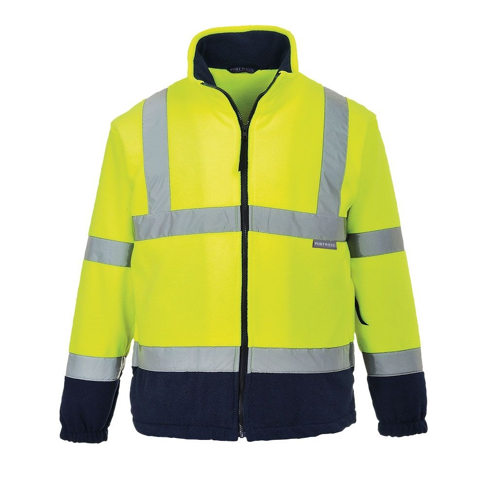 pics/Portwest/Jacken/portwest-f301-two-tone-hi-vis-fleece-jacket-yellow-navy.jpg