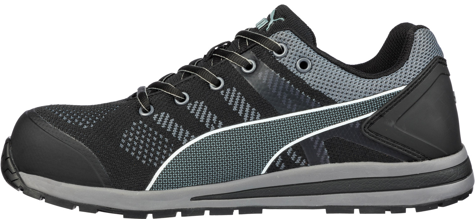 Puma 643160 ELEVATE KNIT BLACK LOW safety shoes S1P ESD HRO SRC