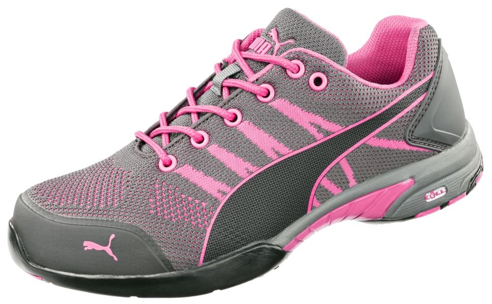 721df1680f3c Puma 642910 CELERITY KNIT PINK WNS LOW Lady safety shoes S1 HRO ...