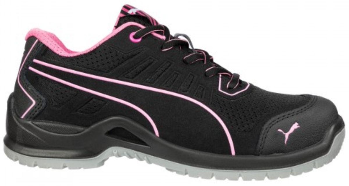 Damen Sicherheitsschuhe Puma Fuse TC Pink Wns Low S1P ESD SRC
