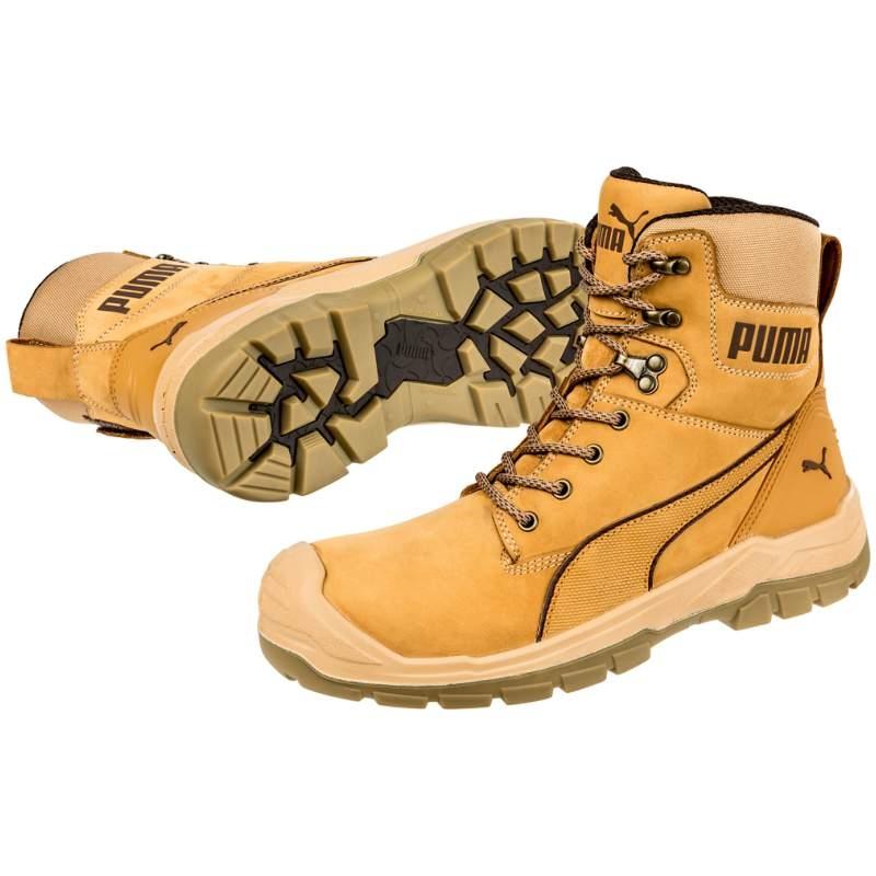 Puma 630650 CONQUEST WHEAT CTX HIGH Safety Shoes S3 WR HRO SRC ...