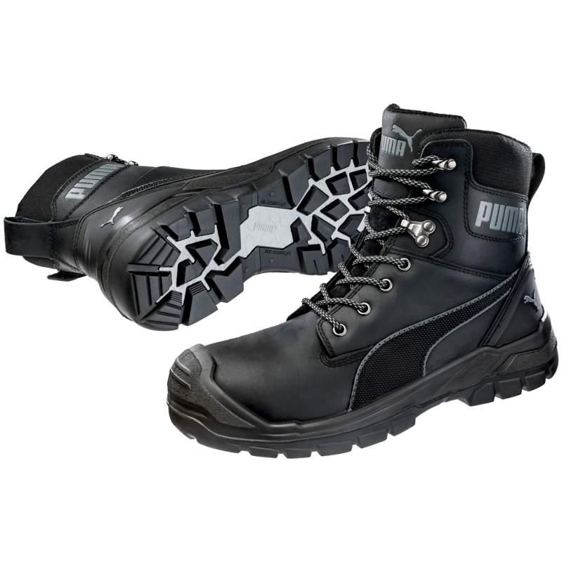 Puma 630730 CONQUEST BLK CTX HIGH Safety Shoes S3 WR HRO SRC