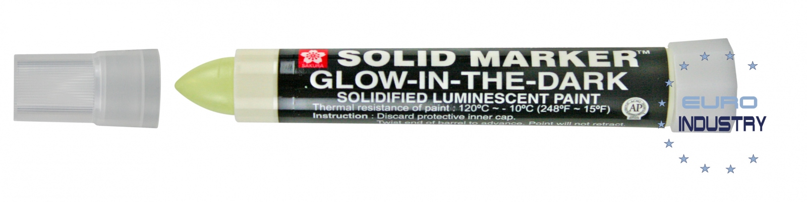 Sakura Industriemarker ´Solid Marker Glow in the Dark´ 0084511385320 Bastel- & Kreativ-Bedarf für Kinder
