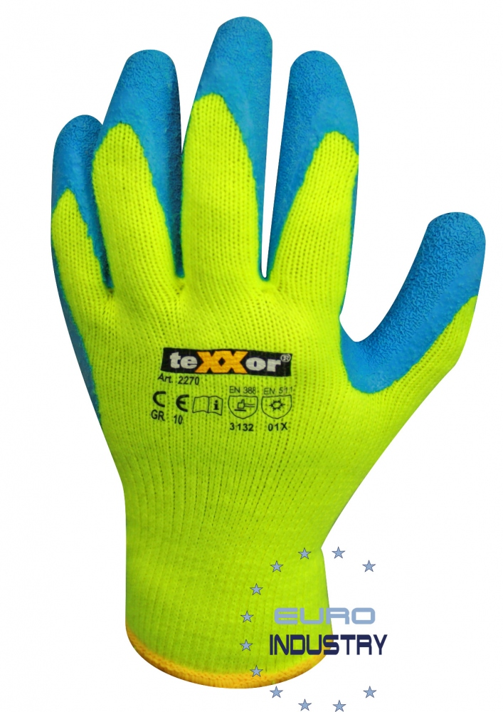 pics/Texxor/Copyright E.I.S./texxor-2270-latex-winter-gloves-yellow-8-11-backview.jpg