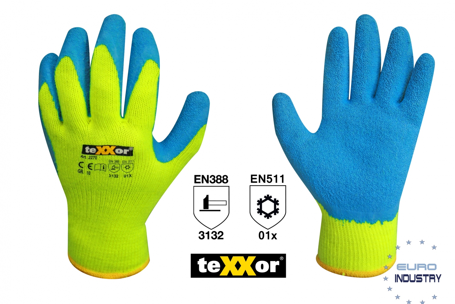 pics/Texxor/Copyright E.I.S./texxor-2270-latex-winter-gloves-yellow-8-11.jpg