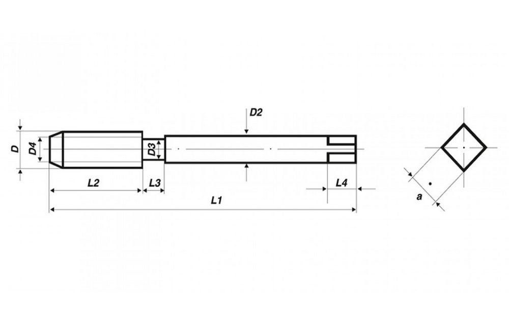 VÖLKEL UNC Maschinengewindebohrer Form B DIN371 HSSE amerikanisches Grobgewinde