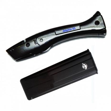 Delphin 100255 Couteau Universel Original N 176 03 Noir Avec